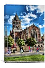 Rugby school chapel, Canvas Print