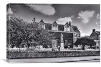 Library at Rugby school, Canvas Print