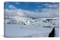 Snow in the peak district, Canvas Print