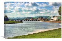 Barnstaple Long Bridge, Canvas Print