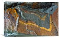Abstract rock art, Canvas Print