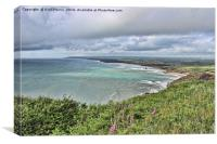 Widemouth Bay in North Cornwall, Canvas Print