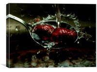 Raspberry splash, Canvas Print