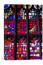 Stained Window, Canvas Print