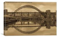 Old-Time Tyne, Canvas Print
