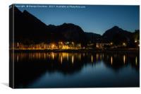 Riva Del Garda at Night 01, Canvas Print