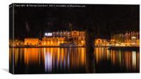 Riva Del Garda at Night 02, Canvas Print
