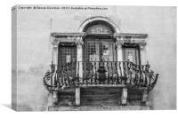 Balcony, Canvas Print
