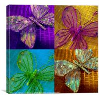 Butterfly Collage, Canvas Print