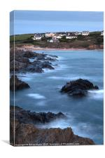 Evening at Treyarnon Bay, Canvas Print