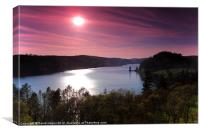 Lake Vyrnwy from the Hotel, Canvas Print