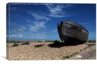 Old Fishing Boat on Dungeness Beach, Canvas Print