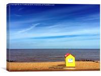 Whitstable beach, Canvas Print
