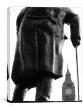 Churchill & Big Ben, Canvas Print