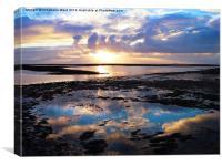 Sea Sunrise Reflection, Canvas Print