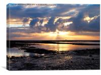 Solent Sunrise, Canvas Print