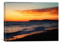Sunset on Shore., Canvas Print