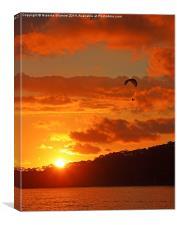 Sunset Glider, Canvas Print
