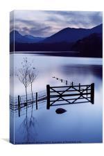 Evening at Derwent Water, Canvas Print