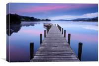 North Jetty at Coniston Water, Canvas Print