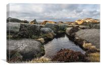 Stanage Edge Rock Pools, Canvas Print