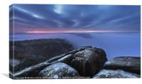 Curbar Edge by Twilight, Canvas Print