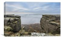 Curbar Edge, Above the Mist, Canvas Print