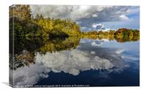 Willow Pits, Cloudy Reflections, Canvas Print