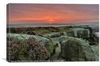 Peak District Sunrise, Canvas Print