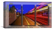 Train Triptych, Canvas Print
