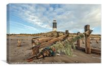 Lighthouse and Nets, Canvas Print