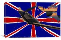 Spitfire, The Night Flight, Canvas Print