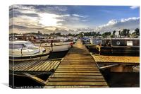 Shardlow Marina, Canvas Print