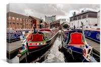 Birmingham Narrow Boats, Canvas Print
