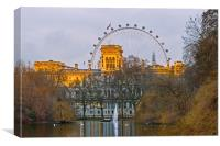 Westminster St. James Park & London Eye, Canvas Print