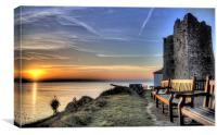 Sunrise from Castle Hill Tenby, Canvas Print