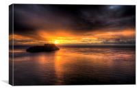 St. Catherines Island, Tenby, Canvas Print