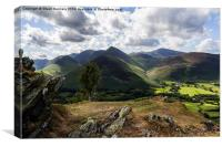 Newlands Valley, Canvas Print