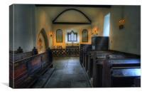 Church Candle, Canvas Print