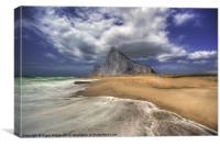 Lavante Over Gibraltar, Canvas Print