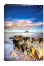 Bembridge Beach, Canvas Print
