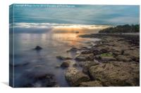 Bembridge Beach Sunrise, Canvas Print