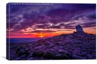 Sunrise From The Top Of Pen Y Fan  Brecon Beacons, Canvas Print