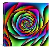 Rainbow Spiral, Canvas Print