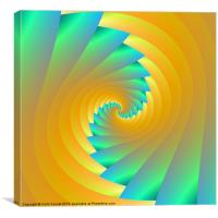 Green and Yellow Twister, Canvas Print