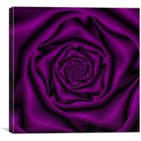 Deep Purple Rose Spiral, Canvas Print