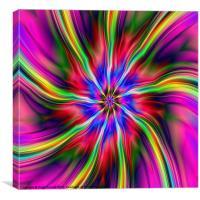 Swirling Star, Canvas Print