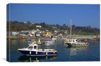 Lyme Regis Harbour from The Cobb, Canvas Print