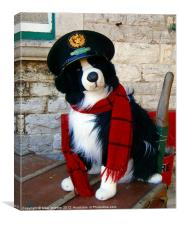 The Station Dog, Canvas Print