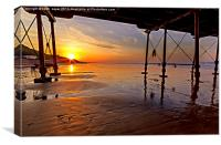 Saltburn Pier Sunset, Canvas Print